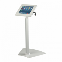 white extendable secure ipad floor stand pn11148 - Ipad Floor Stand